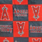 MLB Polar Fleece Fabric Los Angeles Angels