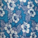 Wholesale Hibiscus Flower Fleece Fabric Blue