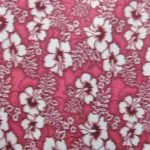 Wholesale Hibiscus Flower Fleece Fabric Fuchsia