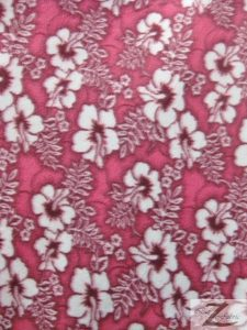 Wholesale Hibiscus Flower Fleece Fabric Fuchsia