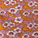 Wholesale Hibiscus Flower Fleece Fabric Orange