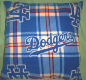 MLB Dodgers Fleece Throw Pillow Case