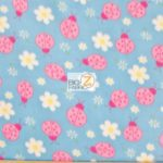 Wholesale Ladybugs Fleece Fabric Blue