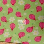 Wholesale Ladybugs Fleece Fabric Lime