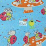 Wholesale Ladybugs Fleece Fabric Mushroom