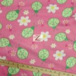 Wholesale Ladybugs Fleece Fabric Pink