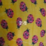 Wholesale Ladybugs Fleece Fabric Yellow