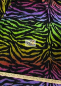 Rainbow Zebra Polar Fleece Fabric