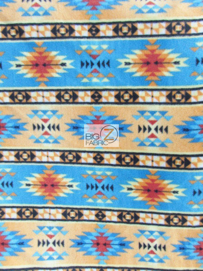 Inca Symbols Polar Fleece Fabric