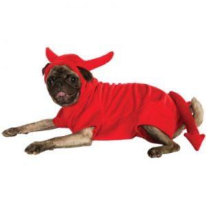 Devil Fleece Dog Costume