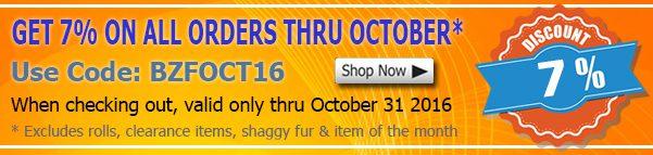 October 2016 Polar Fleece Fabric Discount