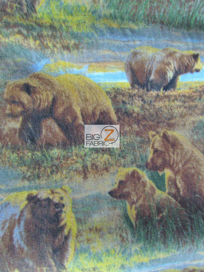 Bears In The Wild Fleece Fabric By David Textiles