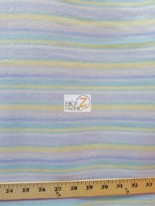 Baby Style Polar Fleece Fabric Horizontal Stripes
