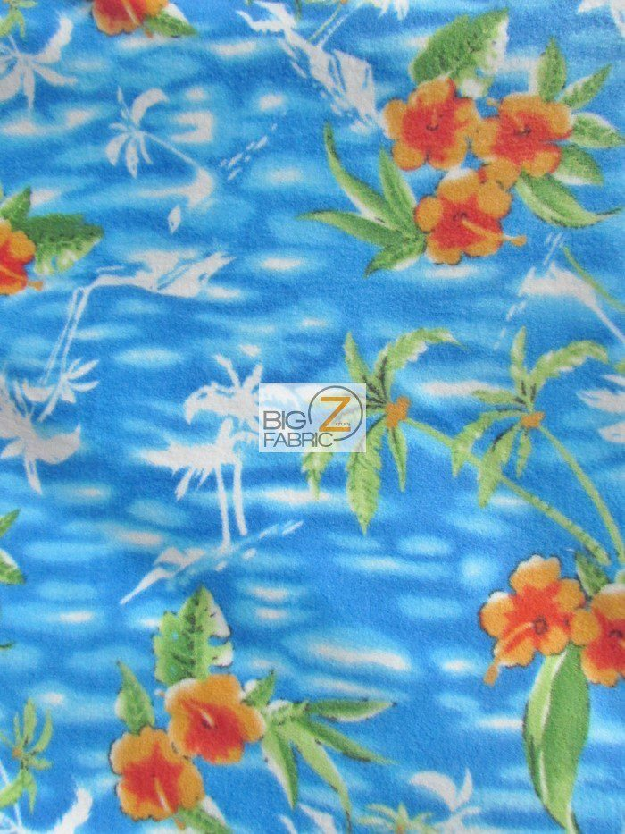 Island Palm Trees Fleece Fabric