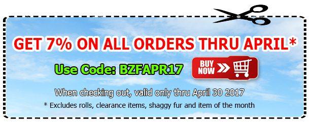 Big Z Fabric April Polar Fleece Coupon