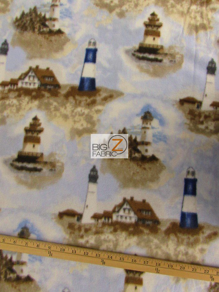 Lighthouse Polar Fleece Fabric By Baum Textile Mills