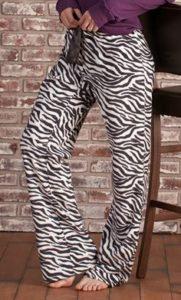 Zebra Fleece PJ Bottoms
