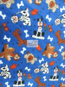 Neighborhood Dogs Fleece Fabric