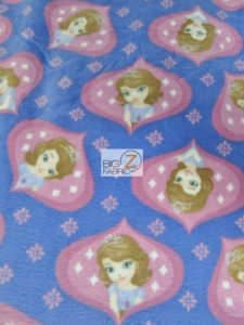 Sofia The First Ogee Disney Polar Fleece Fabric