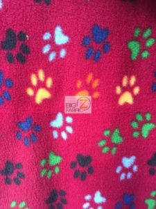 Wholesale Paw Polar Fleece Fabric Fuchsia