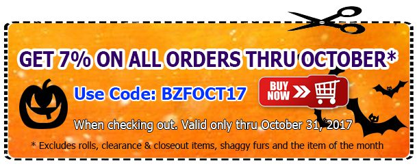 Big Z Fabric October Discount