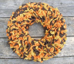 Thanksgiving Fleece Wreath