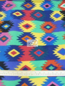 Aztec Pueblo Woven Multi-Color Baum Textile Mills Polar Fleece Fabric