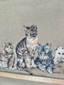 The Kitten Family Baum Textile Mills Polar Fleece Fabric