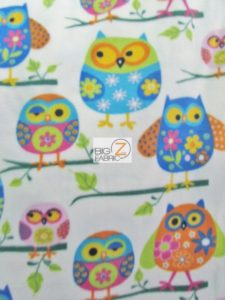 Wondering Owls Baum Textile Mills Polar Fleece Fabric