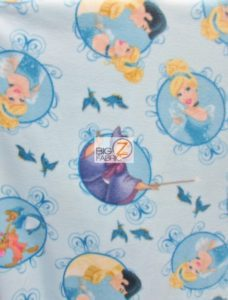 Cinderella Badge Polar Fleece Fabric