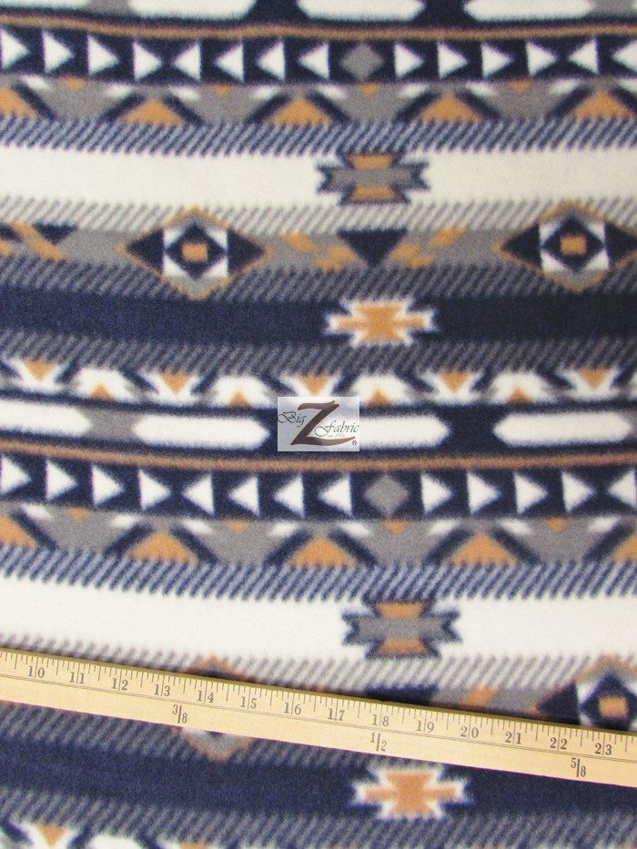 Native Indian Printes Fleece Fabric