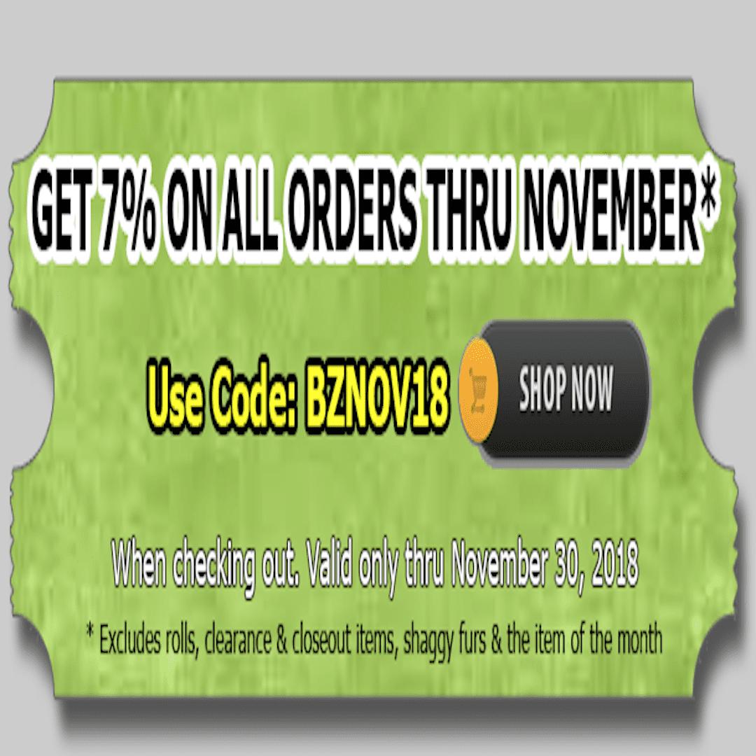 November coupon